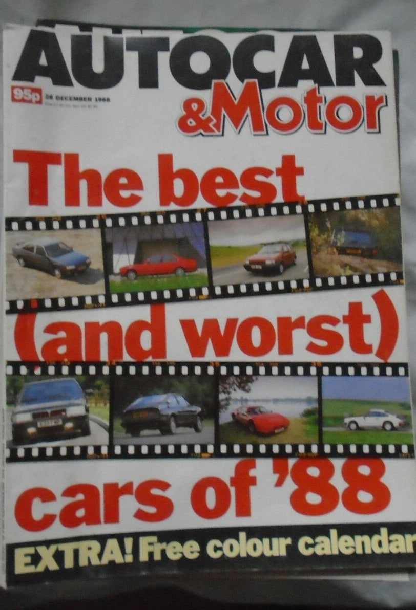 AUTOCAR & MOTOR 28 DECEMBER 1988 BEST (AND WORST) CARS OF '88. 944, BMW