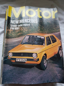 Motor magazine January 31 1976 12000 mile report VW golf. Contents image 2