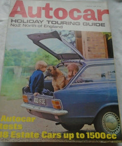 AUTOCAR 1 AUGUST 1968 - HOLIDAY TOURING GUIDE NO.2