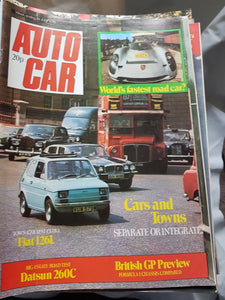 Autocar 19 July 1975 Fiat 126 Datsun 260c British GP world's fastest road car
