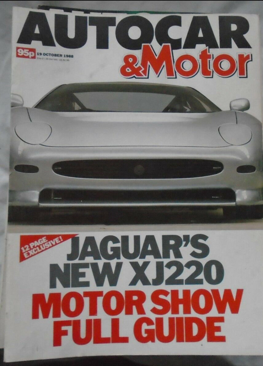 AUTOCAR & MOTOR 19 OCTOBER 1988 JAGUAR XJ220, MOTOR SHOW GUIDE. ASTON VIRAGE.