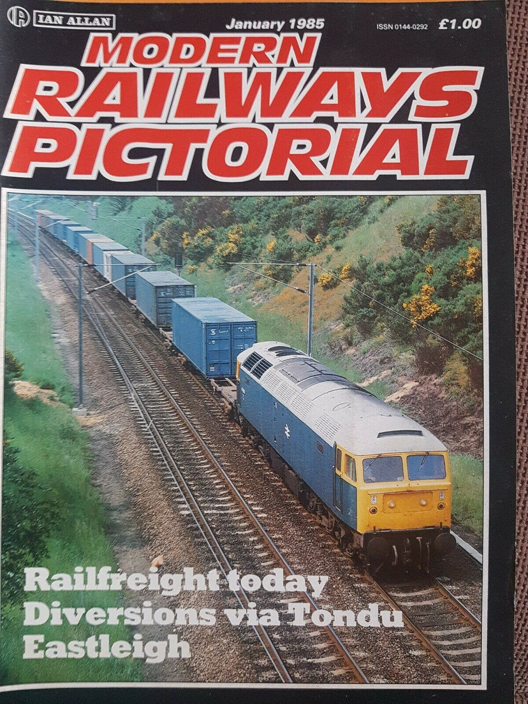 MODERN RAILWAYS PICTORIAL Magazine. IAN ALLAN. JANUARY 1985
