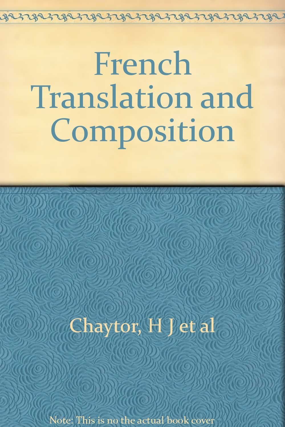 French Translation and Composition [Hardcover]