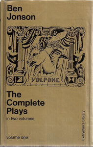 The Complete Plays Volume One [Hardcover] Jonson, Ben