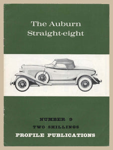 Profile Publications No. 9: The Auburn Straight-eight [Paperback] Charles L. Betts Jr.