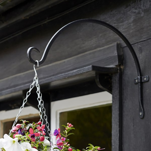 16 inch 40cm Forge Round Hook - Hanging basket hook