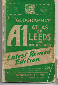 A1 The, Geographia, Atlas of Leeds, and Outer Suburbs, Latest Revised Edition,