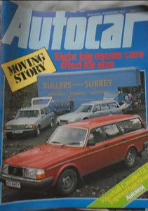 AUTOCAR 18 DECEMBER 1982, VOLVO, MERCEDES, CITROEN