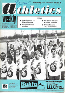 Athletics Weekly February 21st 1976 Vol. 30 No 8