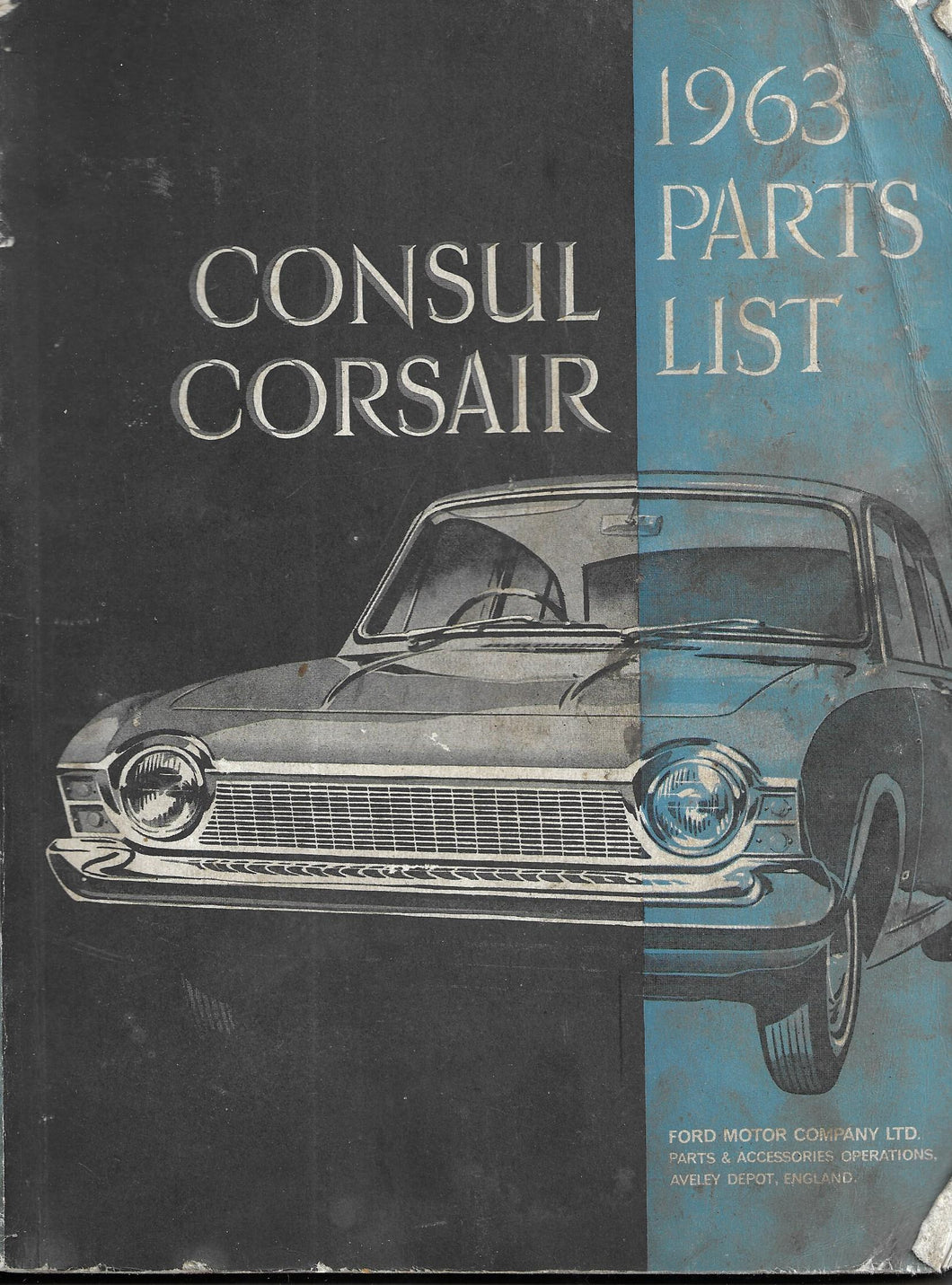 PARTS LIST with illustrations for the CONSUL CORSAIR 1963 [Paperback] No author
