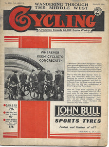 Cycling: (Magazine): No 2252 Vol. LXXXVII: WANDERING THROUGH THE MIDDLE WEST: March 30, 1934 [Paperback] Cycling