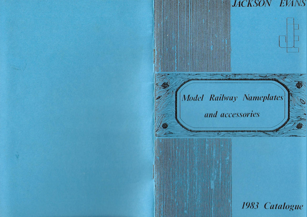 Model Railway Nameplates and Accessories 1983, Jackson Evens