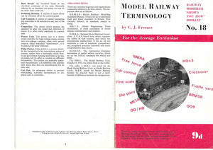 Model Railway Terminology, Railway Modeller, Shows You How Booklet No. 18
