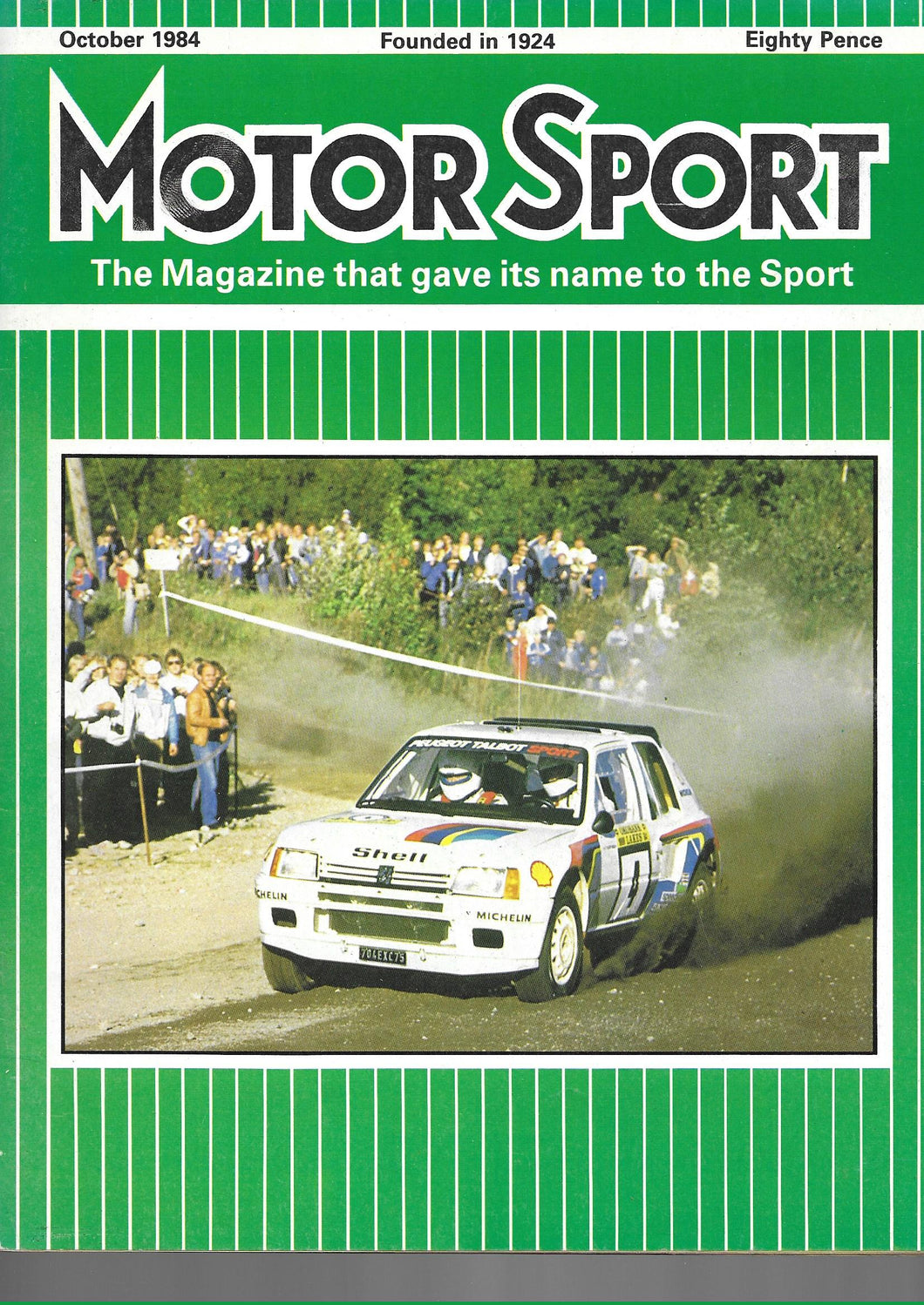 Motor Sport, Motorsport, Magazine, October 1984, Very Good Condition