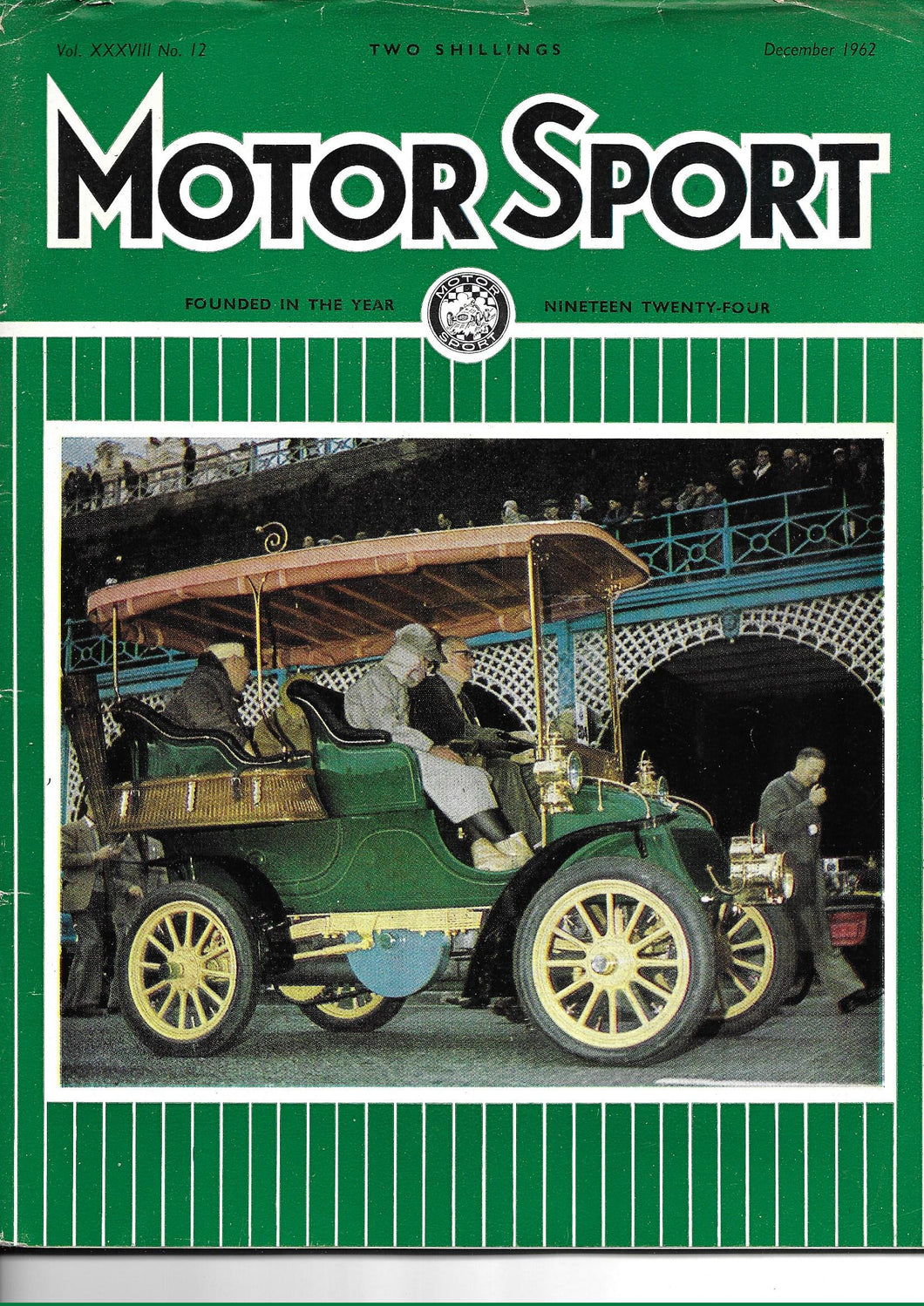 Motor Sport, Motorsport, Magazine, Vol XXXVIII No 12, December 1962, Loose Cover