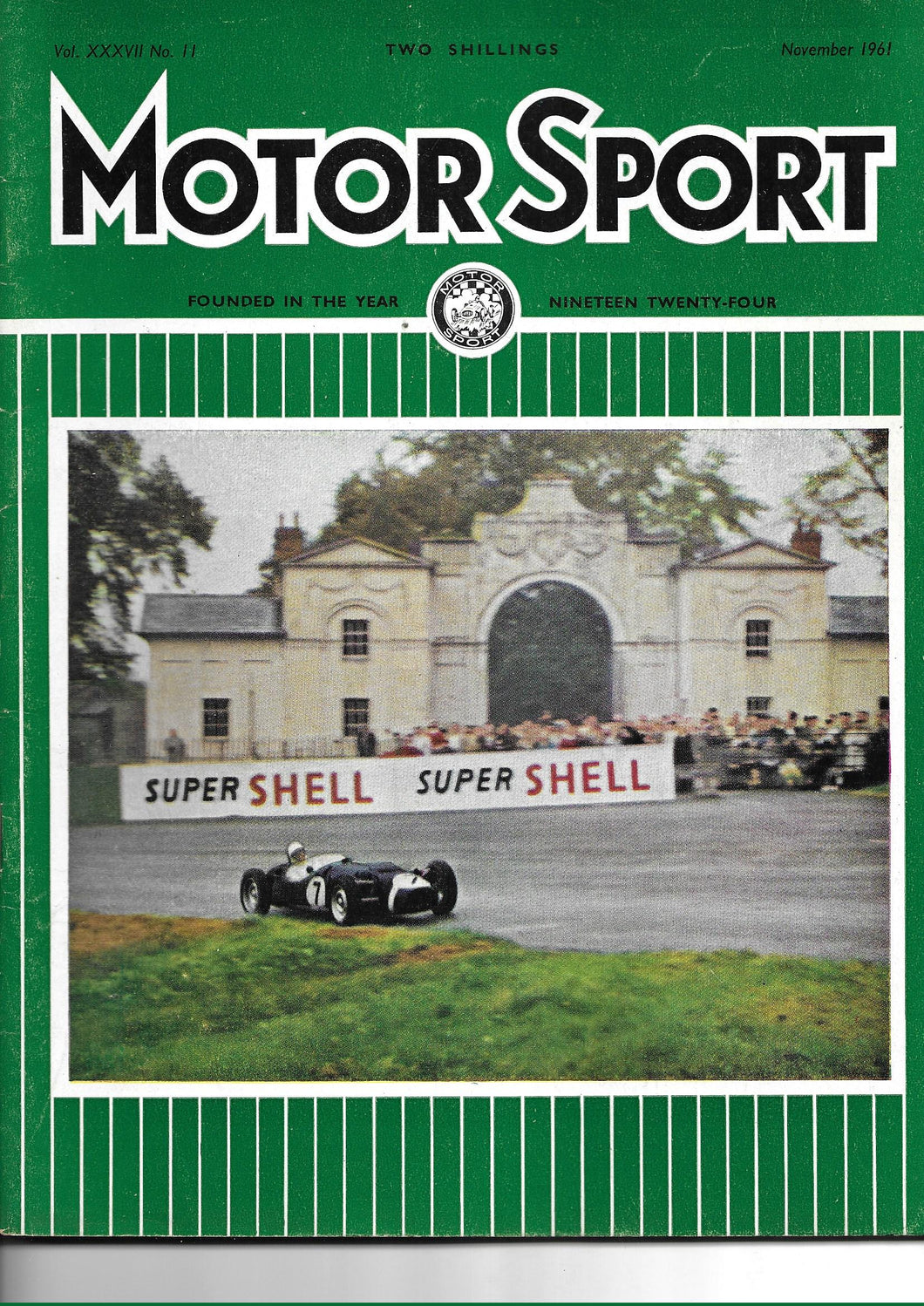 Motor Sport, Motorsport, Magazine, Vol XXXVII No. 11 November 1961