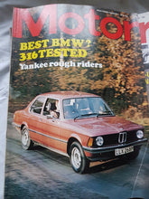 Load image into Gallery viewer, Motor magazine February 7 1976 BMW 316 tested