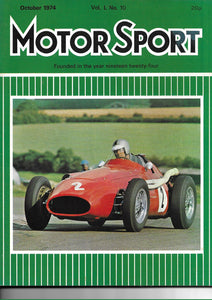 Motor Sport Magazine Vol. L No. 10 October 1974,