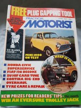 Load image into Gallery viewer, Practical motorist April 1977 mini 1000 Honda Civic Fiat 126 Cortina no freebies
