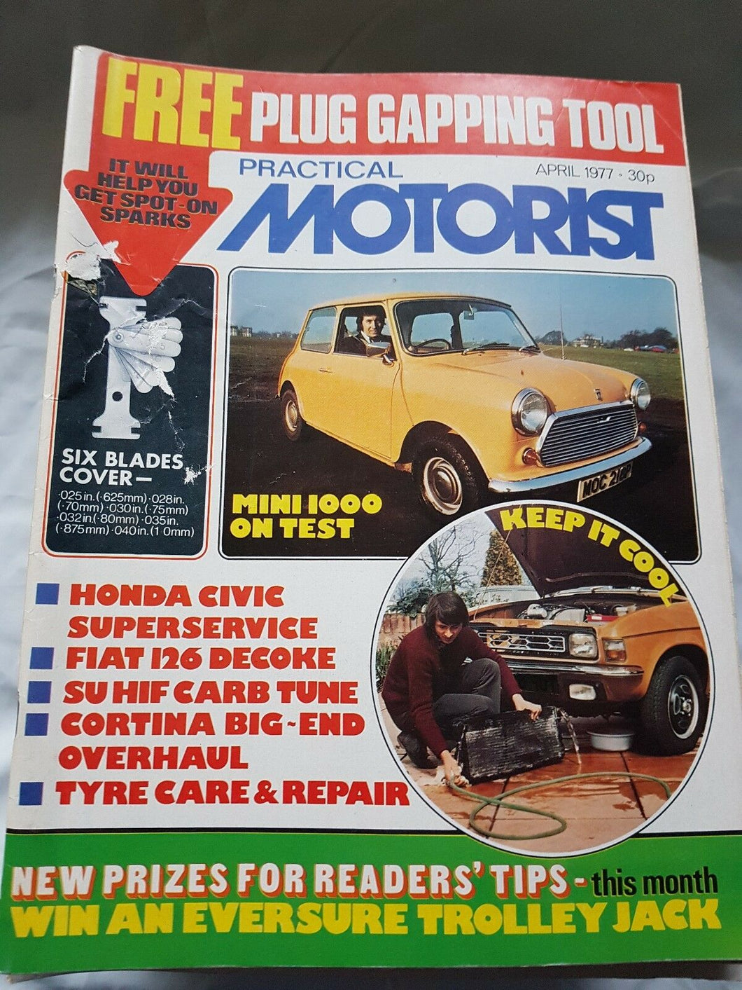 Practical motorist April 1977 mini 1000 Honda Civic Fiat 126 Cortina no freebies