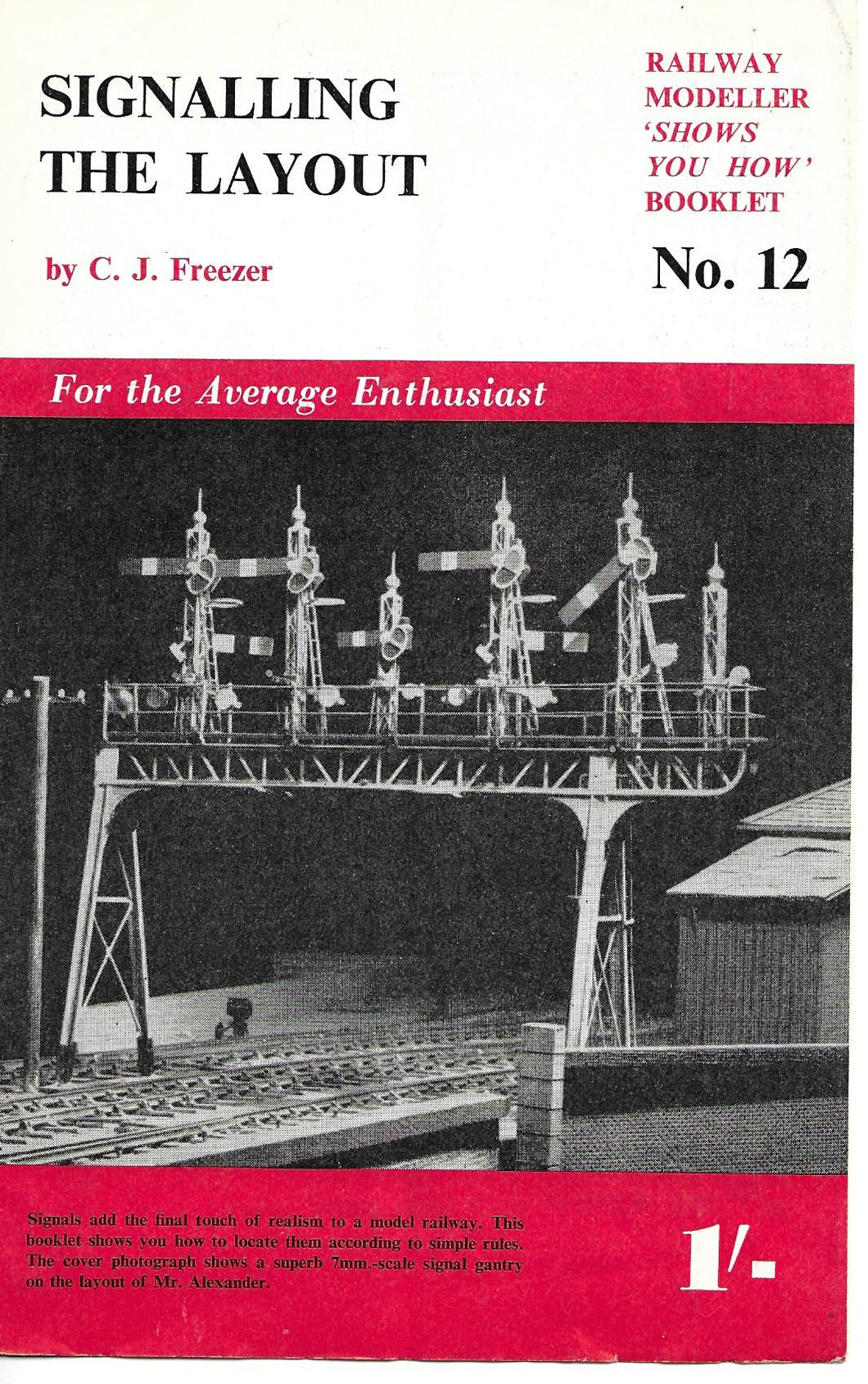 Railway Modeller, Shows You How, Booklet, Signalling The Layout, C.J. Freezer