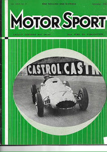 Motor Sport, Magazine, Vol XXXI No 9, September 1955,