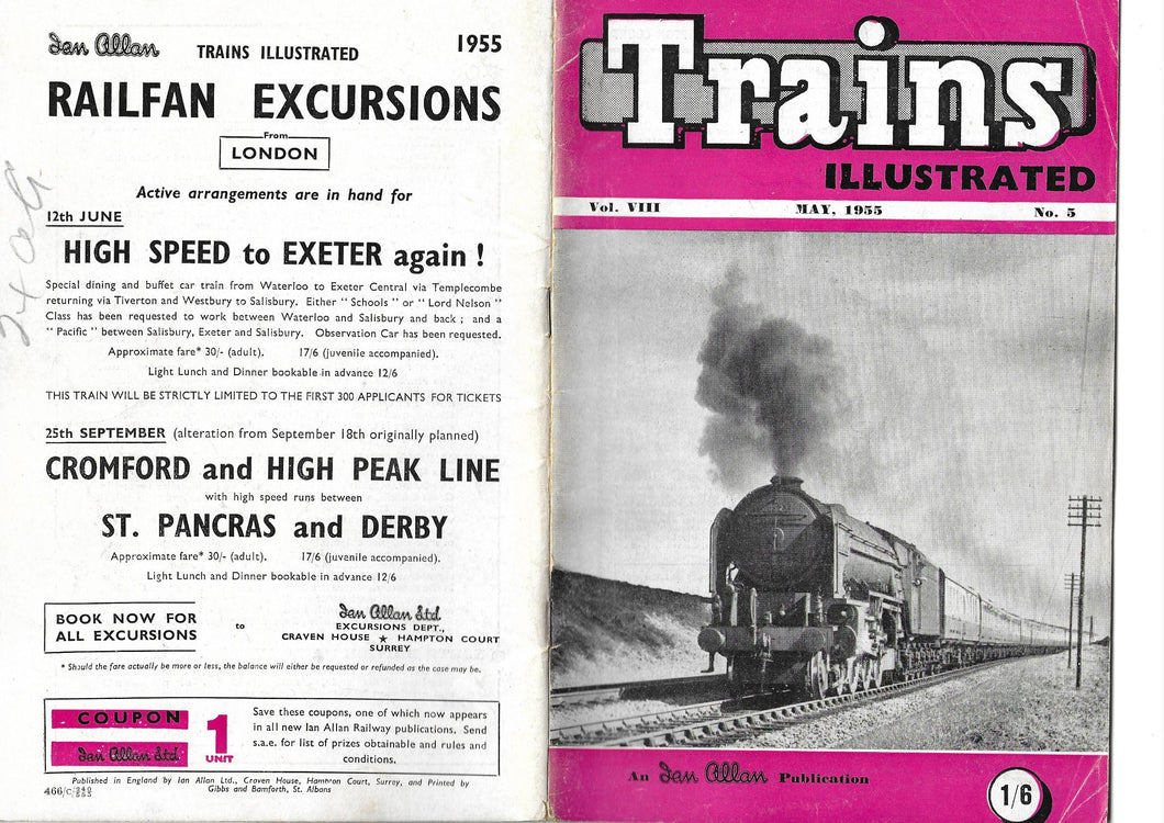 Trains Illustrated, Ian Allan, May 1955 Vol VIII No 5