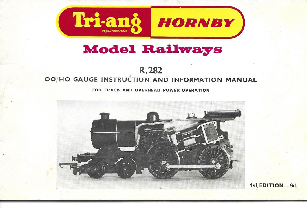 Triang, Hornby, Model Railway, OO, HO, Gauge, Instruction, Information Manual