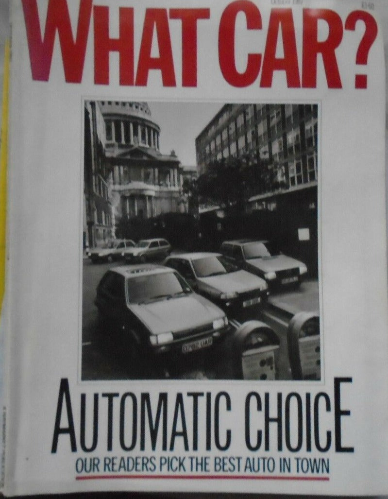 What Car October 1987 - BMW V12. Nissan Coupe, 300 ZX, Izuzu Gemini, Corolla, BX