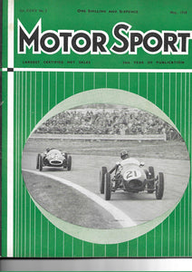 Motor Sport Magazine Vol XXXIV No 5 May 1958