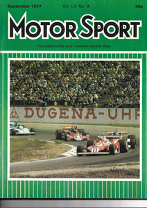 Motor Sport Vol LIII No 9 September 1977