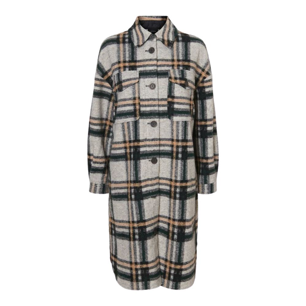 Vero Moda Chrissie Long Check Shirt