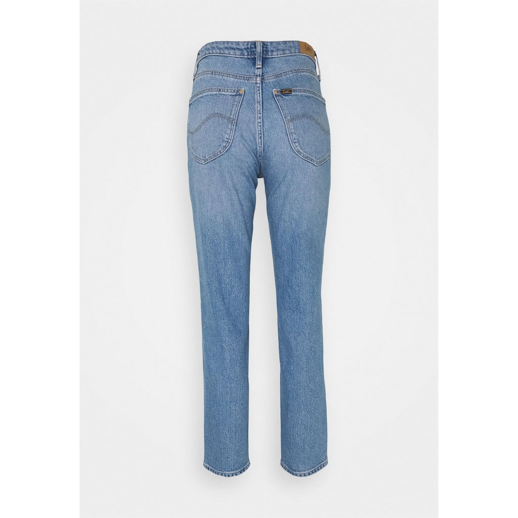 Lee Carol Cropped Straight Blå Jeans Dame
