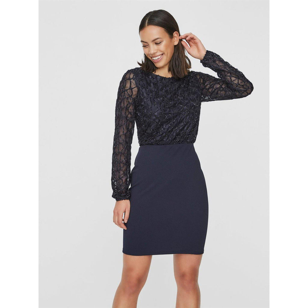 Vero Moda Vmdoris ls short dress jrs