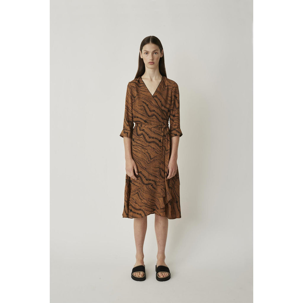 Just Female Celine Wrap Dress-Kjole-Just Female-XS-kaoz