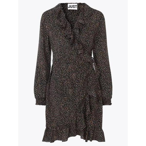 Just Female Imogene Wrap Dress-Kjole-Just Female-XS-kaoz