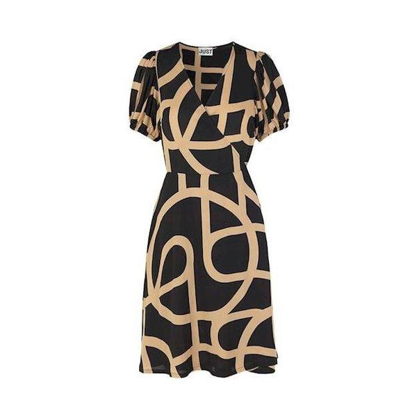 Just Female Leyla Wrap Dress-Kjole-Just Female-XS-kaoz