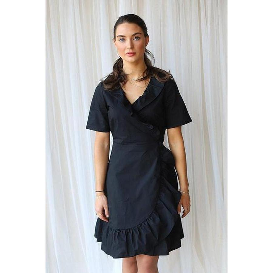 Just Female Nitula Wrap Dress-Kjole-Just Female-XS-kaoz