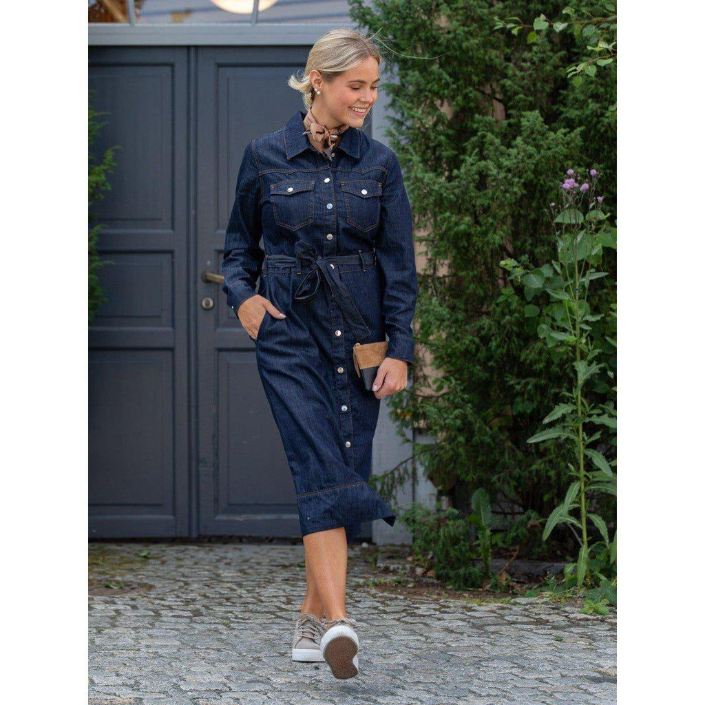 Just Female Tinka denim dress-Kjole-Just Female-XS-kaoz