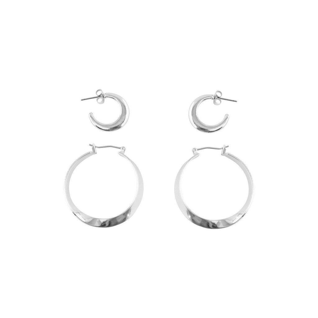 Pieces Arlene 2-Pack Creol Earrings-Tilbehør-Pieces-kaoz