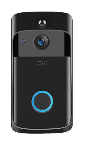 Black Wireless Doorbell Remote Camera