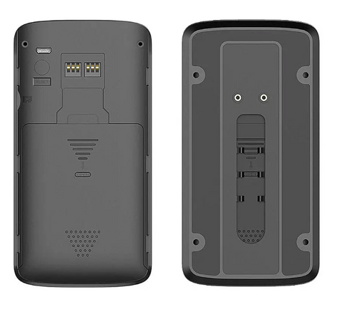 Rear view of remote wireless doorbell camera