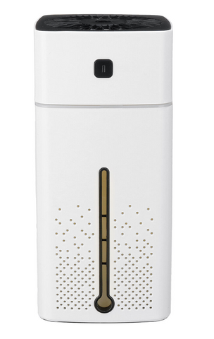 White Air Purifier Ionizer Humidifier Aroma Diffuser with LED Lights