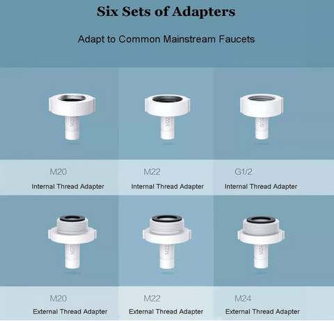 6 types of adaptors to suit faucet for sensor faucet device