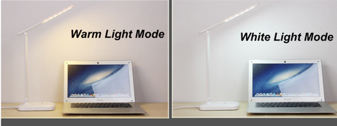 Warm and Cool Color Tones of the LED Desk Light Touch Table Lamp