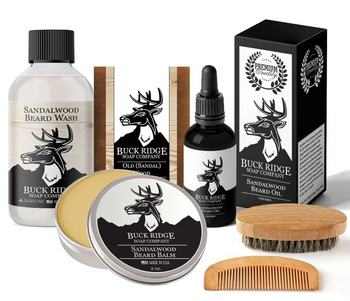 Beard And Body Care Gift Sets Mustache Wax Beard Balm Beard Wash Brush And Comb