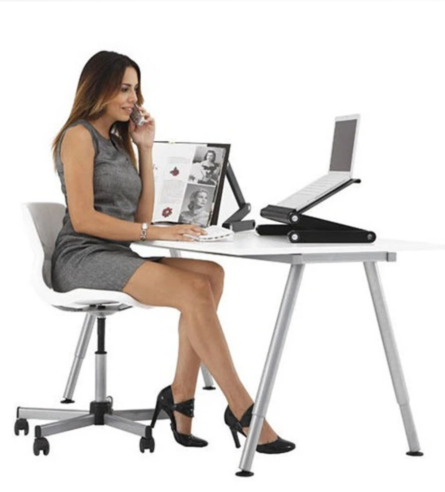 Small Portable Adjustable Laptop Table Home Work Station