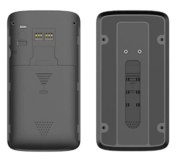Back panel of wireless camera doorbell remote