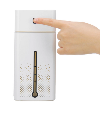 Finger touch control on White Air Purifier Ionizer Humidifier Aroma Diffuser with LED Lights