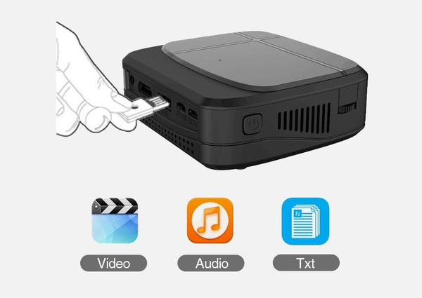 Mini Home Projector For Movies Gaming Home Cinema iPhone Smartphone